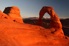Free Delicate Arch At Sunset Royalty Free Stock Photography - 23104767