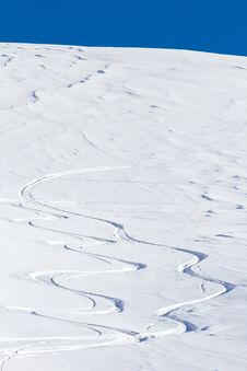 Free Free Ride Ski Tracks Stock Photography - 23109382