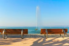 Free Modern Benches Along The Coastline Stock Photography - 23109672