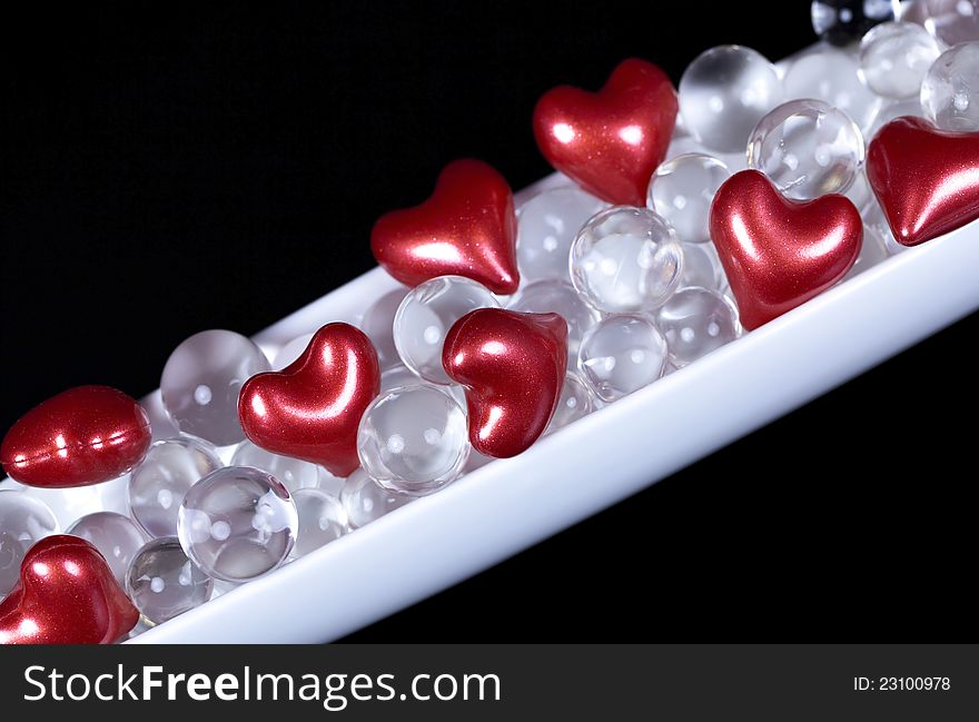 Valentine hearts decoration