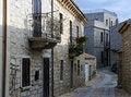 Free Street In A Mediterranean Little Town Of Sardinia. Stock Photo - 23115890