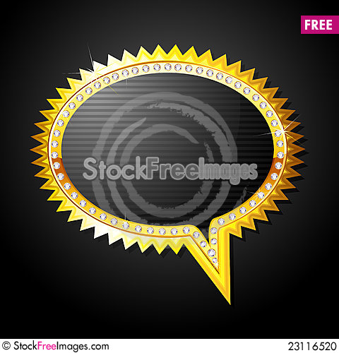 Free Golden Speech Bubble Stock Photo - 23116520