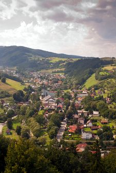Little Town Royalty Free Stock Image