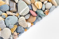 A Pile Of Pebbles Isolated Royalty Free Stock Photos