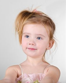 Free Portrait Of Little Girl Asking Something Stock Photos - 23112263