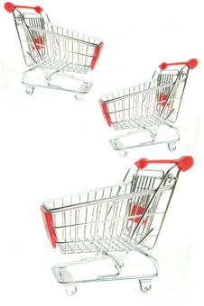 Free Empty Shopping Trolley Stock Photo - 23112310