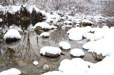 Free Winter Stream Reflection Stock Photo - 23113000