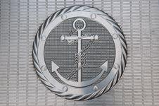 Free Anchor Metallic Plate Royalty Free Stock Photos - 23115138