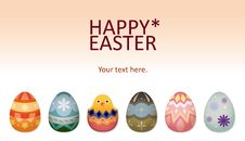 Easter Chick And Eggs Card Stock Image