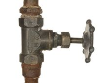 Free Old Water Valve Royalty Free Stock Photos - 23115868