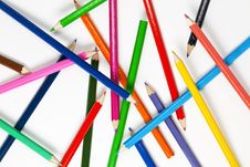 Set Of Colourful Pencils Royalty Free Stock Photo