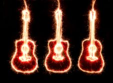 Free Sparkle Guitars Stock Images - 23116964
