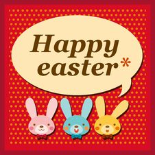 Free Happy Easter Card Royalty Free Stock Images - 23117519