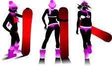 Free Hot Snowboard Stock Photo - 23126470