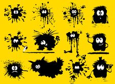 Funny Blots Royalty Free Stock Images