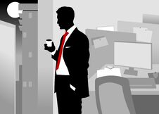 Free Night At The Office Royalty Free Stock Image - 23126536