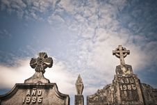 Free Stone Crosses And Years Stock Image - 23126731