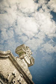 Free Stone Cross And Sky Stock Photos - 23126773