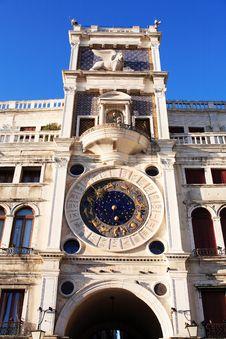 Free Clock Tower In Venice, Italy Stock Photos - 23127043