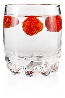 Free Water In Glass With Strawberry Royalty Free Stock Photo - 23128055