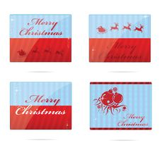 Free Christmas Symbols Set Red And Blue Color Stock Photos - 23129433