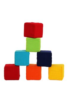 Free Tower Of Colored Cubes Royalty Free Stock Photos - 23132118