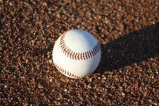 Free Baseball On Ground Royalty Free Stock Photography - 23132137