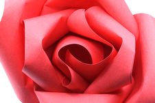 Free Rose Origami Paper Macro Stock Photo - 23133280