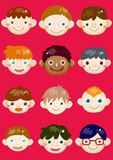 Free Boys Icon Stock Photos - 23133613