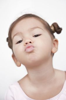 Kiss Bow Lips Royalty Free Stock Photos