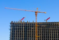 Crane And Building Stock Photo