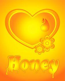 Free Honey Heart Royalty Free Stock Photo - 23138375