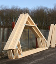 Free Timber Roof Trusses Stock Photos - 23145683