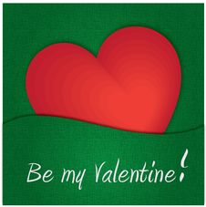 Free Valentine S Card &x28;green&x29; Stock Photos - 23140493