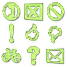 Free Icon Set Royalty Free Stock Images - 23143639