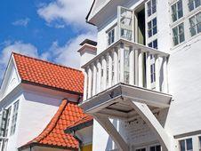 Small Wooden Balcony Royalty Free Stock Photos