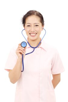 Free Portrait Of A Asian Female Nurse Royalty Free Stock Photography - 23143807