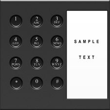 Free Modern  Telephone Keypad With Sample Text Stock Photography - 23146902