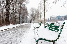 Free Benches In The Parkway Stock Photo - 23149420