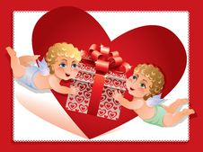 Free Valentine Card Royalty Free Stock Photography - 23152707