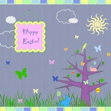 Free Easter Greeting Card Royalty Free Stock Image - 23153606