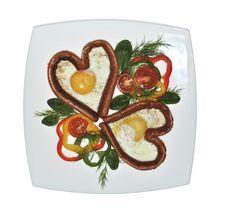 Free Valentines Day Breakfast Stock Photo - 23154330