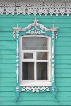 Free Old Russian Window In Mariinsk Stock Photos - 23154683