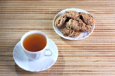 Free Cup Of Tea And Cookies Royalty Free Stock Photo - 23154955