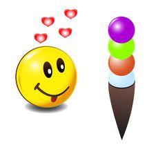 Free Smile And Ice Cream Stock Image - 23155021