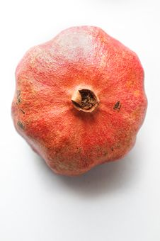 Top View Of A Ripe Pomegranate Stock Photography