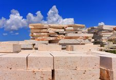 Free Limestone Blocks Royalty Free Stock Image - 23159306