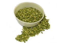 Bowl Of Dry Split Peas Royalty Free Stock Photography