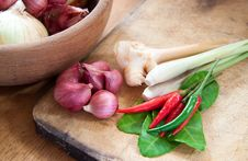 Free Asian Hot And Spicy Food Ingredients Royalty Free Stock Photos - 23162188