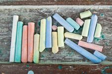 Free Colorful Chalk Stock Photo - 23163500